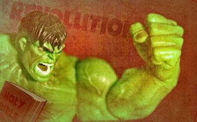 Radical Christian Hulk says:  I love Jesus more than you!!!  Photo by Jason Fowler