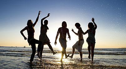 teens beach